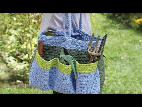 How To Crochet A Yarn Tote / Garden Bag