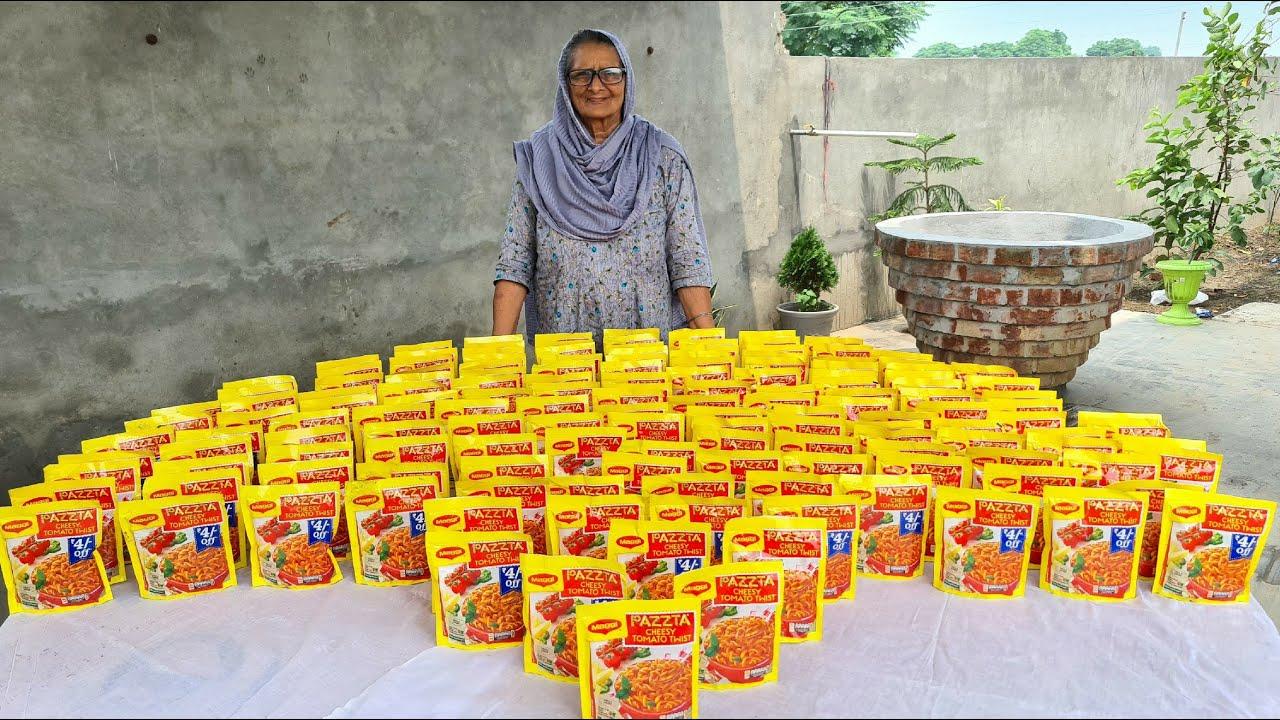PASTA RECIPE Prepared By My Granny | MAGGI PASTA | INDIAN STYLE PASTA RECIPE | VILLAGE COOKING