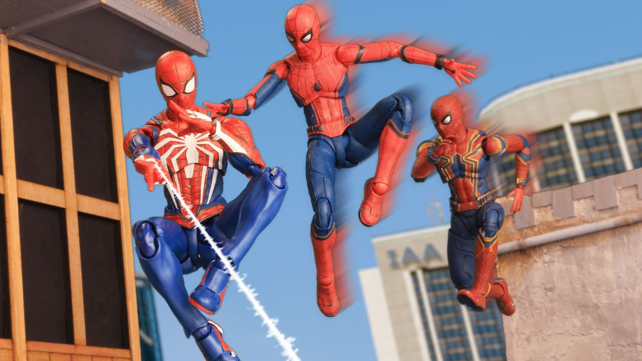 Three SPIDER-MANs in the Multiverse | Figure Stopmotion