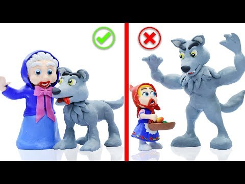 BABY RED RIDING HOOD MEETS BIG WOLF 馃挅 Stop Motion Cartoons Animation