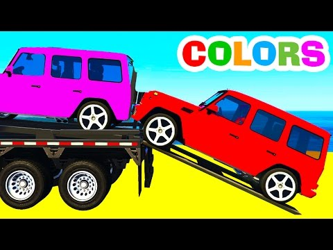 Thumbnail: COLOR SUV CARS Transportation in Spiderman Kids Cartoon and Fun Colors for Children Nursery Rhymes