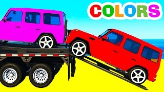 color suv cars transportation in spiderman kids cartoon and fun colors for children nursery rhymes