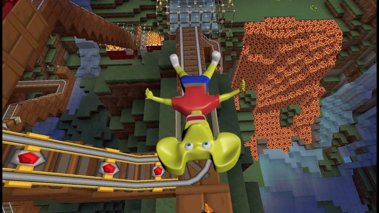 Ratboy Genius Roller Coaster Music Video YouTube - Minecraft rollercoaster spielen