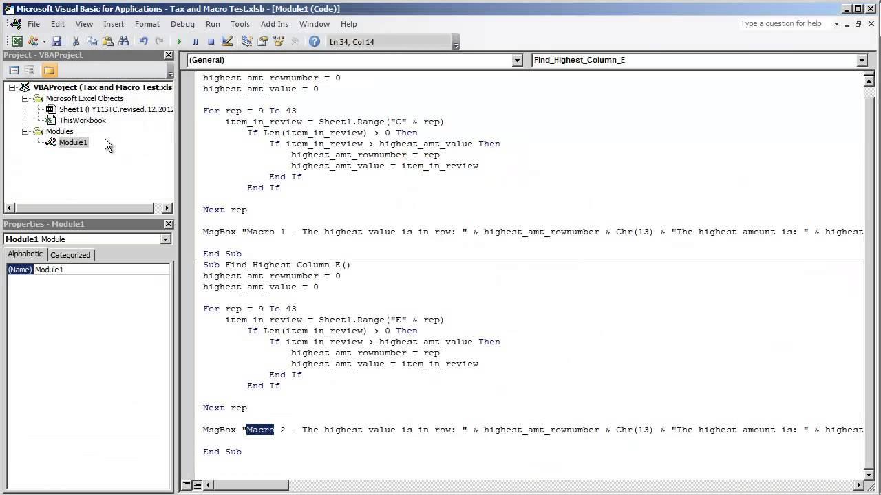 VBA Excel Combining Multiple Macros (2 or more Macros