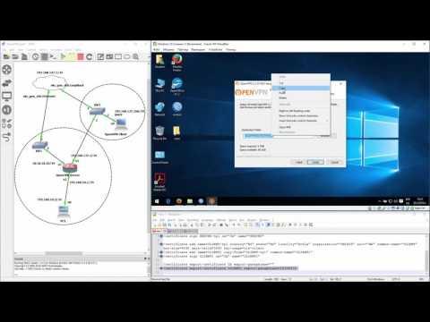 MikroTik OpenVPN Server And Windows OpenVPN Client (LAB Demo)