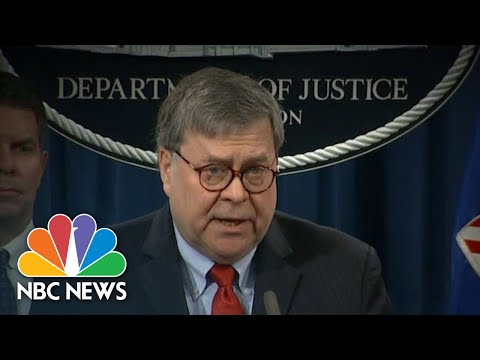 Barr Says Trump's Justice Department Tweets Make It 'Impossible' To Do His Job | NBC Nightly News