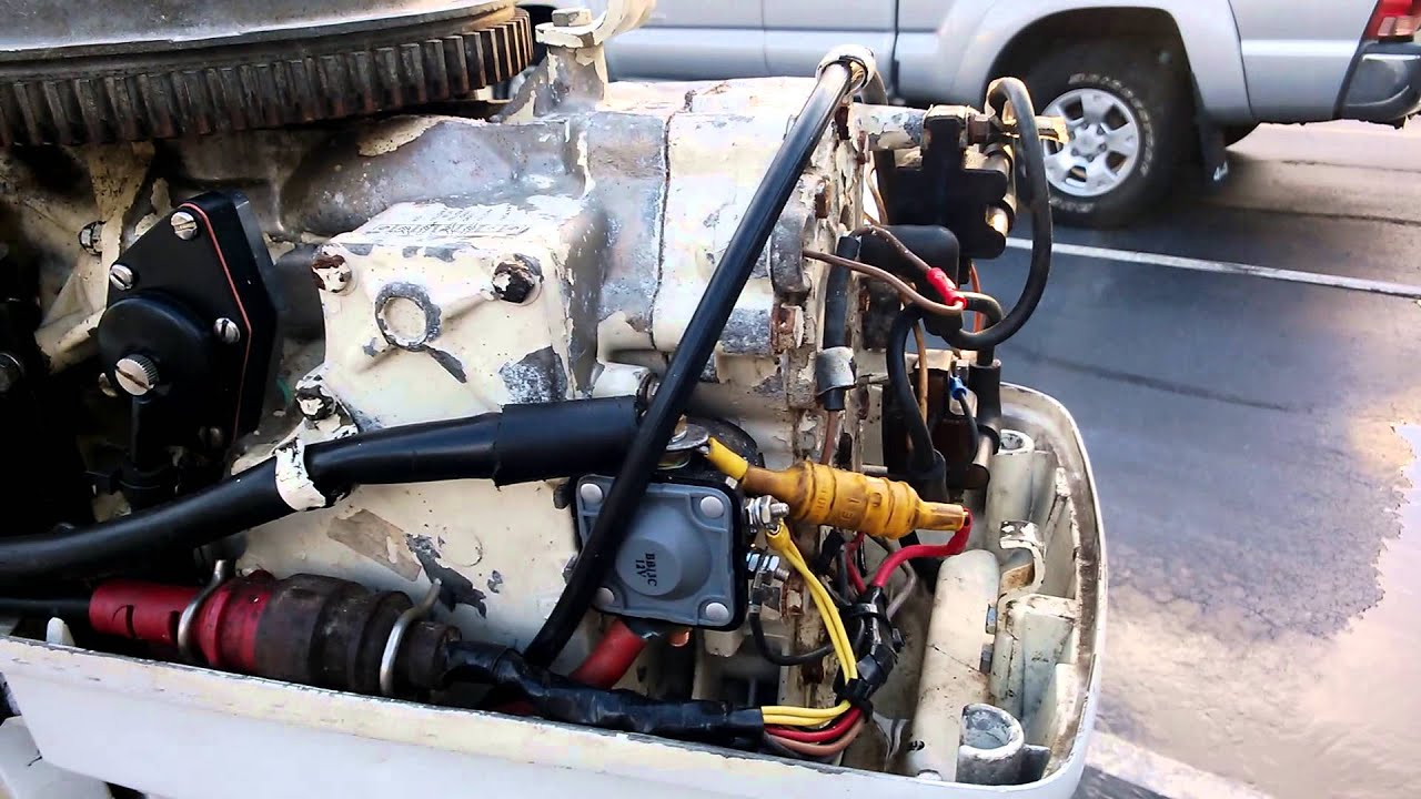 Mariner Ignition Switch Wiring Diagram 50hp Johnson Outboard Starter Issue Youtube