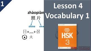 Lesson 4 Vocabulary 1   HSK 3 Standard Course Part A – Teacher Explanation