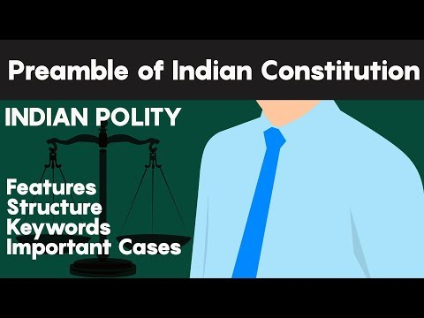 PREAMBLE of Indian Constitution : Structure and IMPORTANT CASES