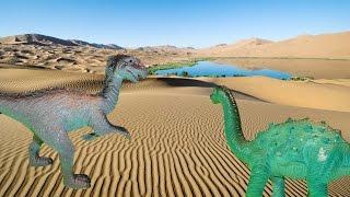 МИРАЖ В ПУСТЫНЕ. Встреча с огромным ТИГРОМ. Динозавры. Мультики для детей