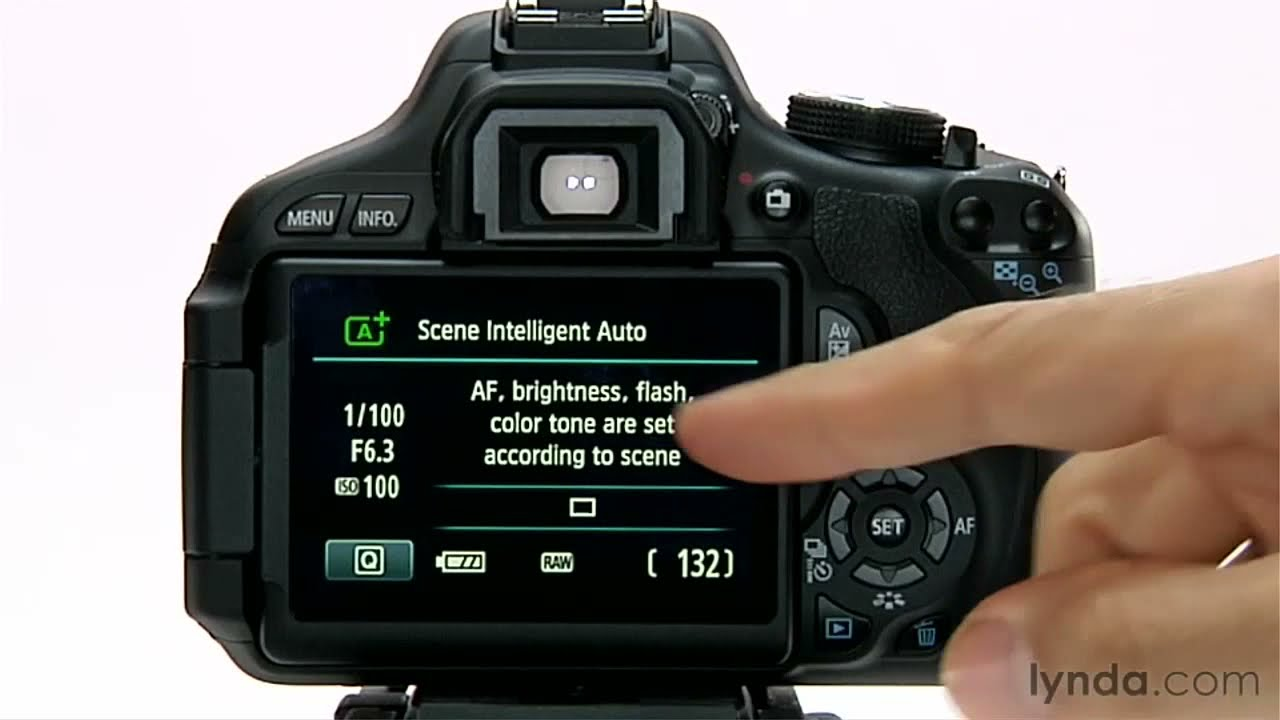 Canon Rebel T3i overview: Setting the auto mode | lynda com