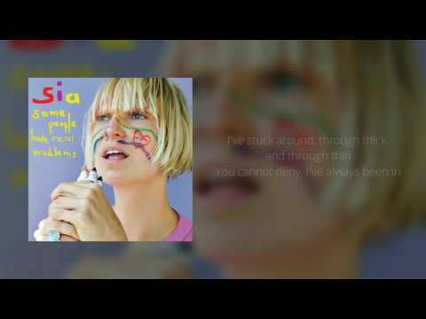 Sia - The Girl You Lost To Cocaine (Official Instrumental + Lyrics on Screen / Karaoke)