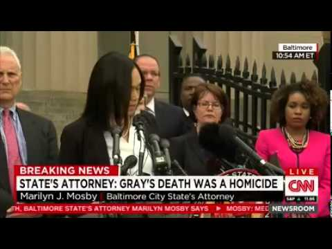 Prosecutor: 'Probable Cause' to Believe Freddie Gray's Death a Homicide, pt 2
