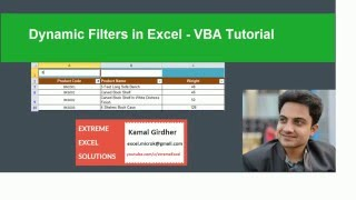 Dynamic filters in Excel (Filter as you type) - Excel VBA Tutorial