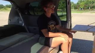 Tour of My Mini Camper Van - Toyota Sienna campervan!
