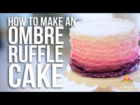 How-to Make An Ombre Ruffle Cake   Cake Tutorials