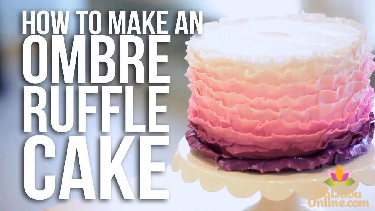 How To Make A Cake Ruffle