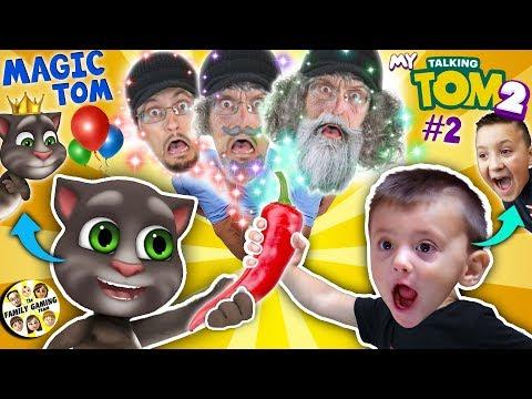 MY TALKING TOM 2 turns us OLD In Real Life! (FGTEEV Magic Game Skit)