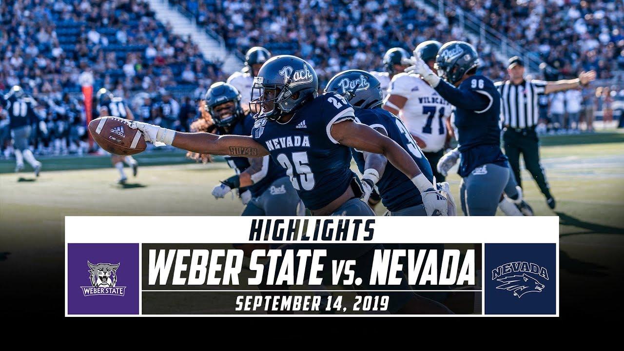 Weber State Vs Nevada Football Highlights 2019 Stadium Youtube