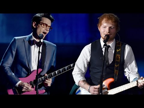 "Ed Sheeran & John Mayer's 2015 Grammys Performance ""Thinking Out Loud""!"