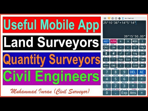 Useful Mobile App|Land Surveyors|Quantity Surveyors|Civil Engineers And Others