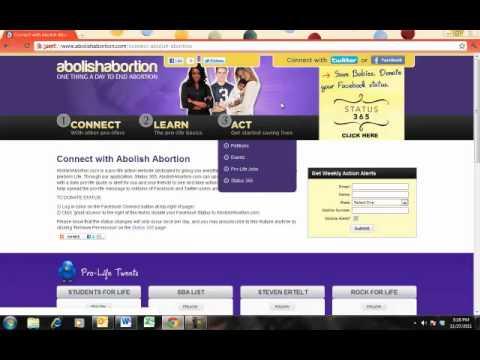 AbolishAbortion.com Walk-Through