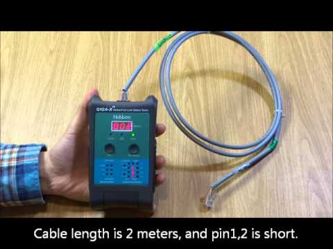 RJ45 Network Cable Tester With Length Meter & Short Location & Link Tester | Hobbes GIGA-X