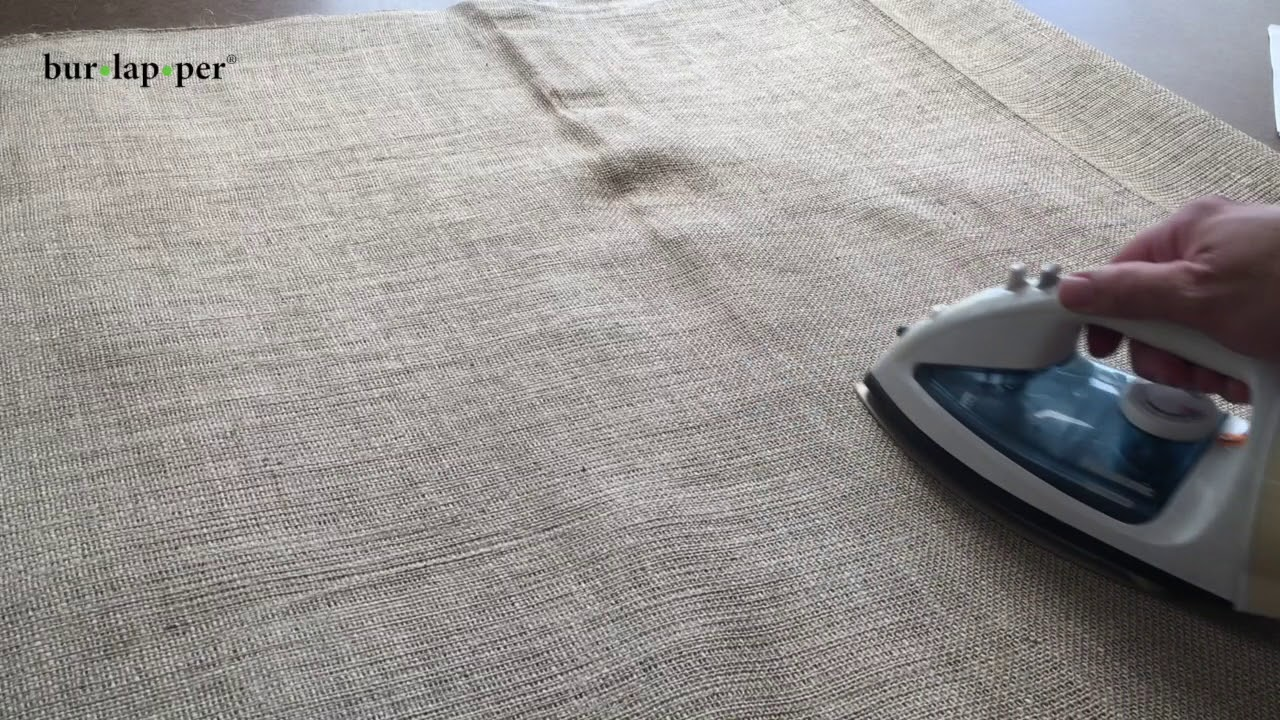 Remove Wrinkles from Burlap Fabric