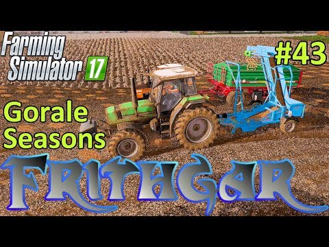 Let's Play Farming Simulator 2017, Gorale With Seasons #43: Potatoes The Old Fashioned Way!