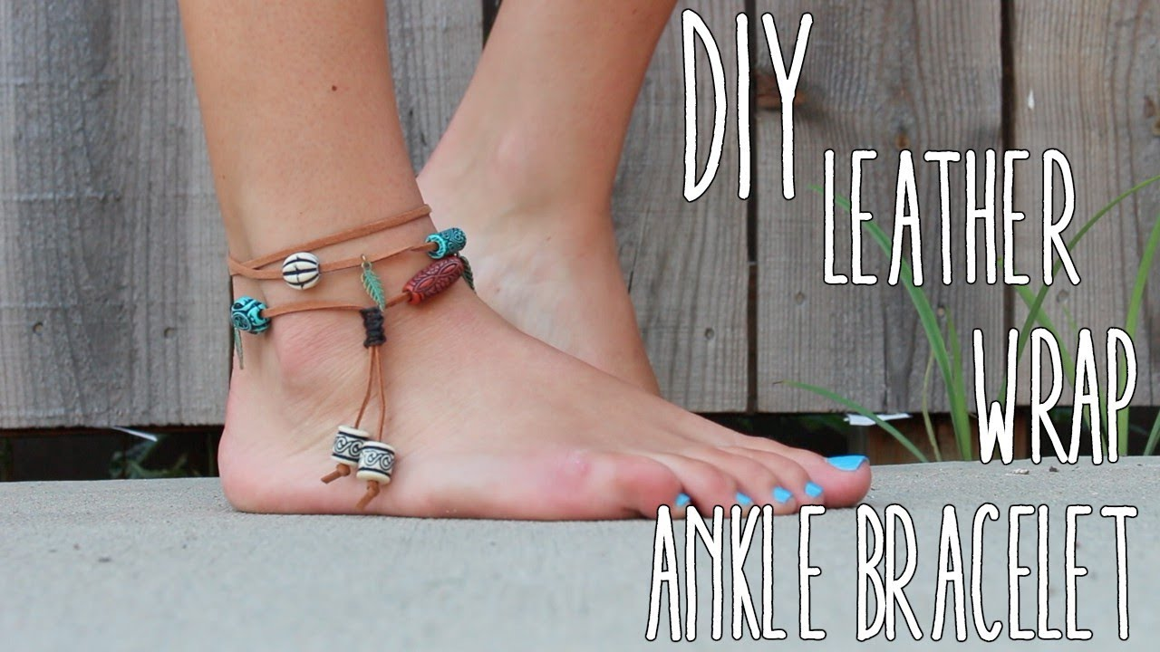 Diy Leather Wrap Ankle Bracelet