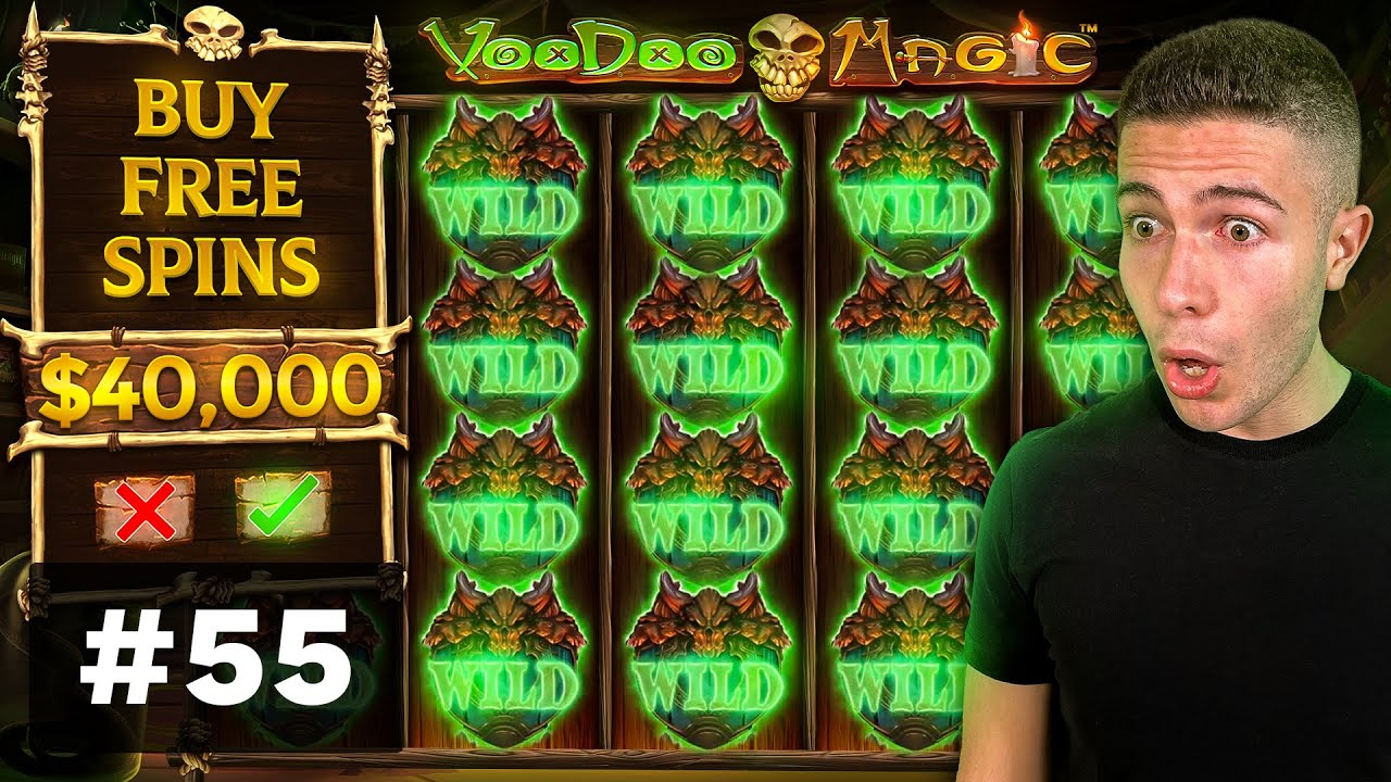 $40000 BONUS BUY on VooDoo Magic, BIG WIN on Book of Tut! - AyeZee Stream Highlights #55