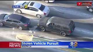 HALF AN HOUR Police Chase With Rare Ending Los Angeles (HD) 05/05/2019