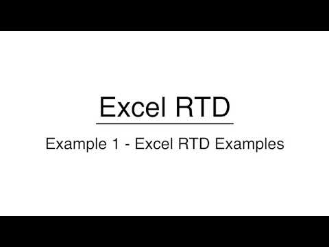 Excel RTD - MEX NexGen MT4 www.mexexchange.com