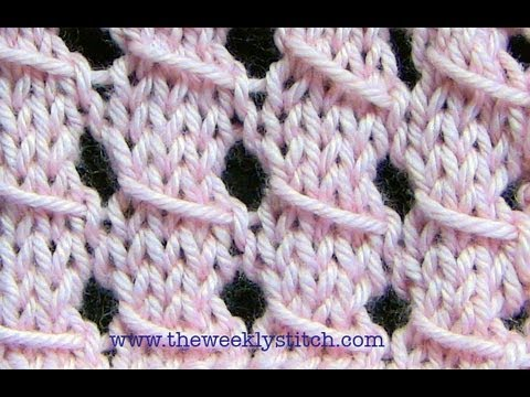 Slip Stitch Lace Youtube
