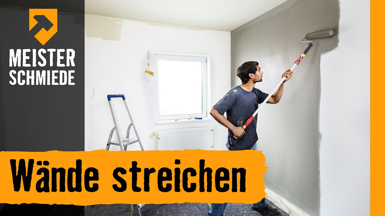 w nde streichen hornbach meisterschmiede youtube. Black Bedroom Furniture Sets. Home Design Ideas