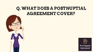 Postnuptial agreement explained