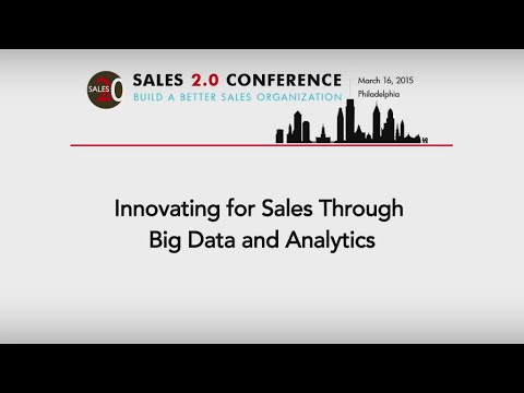 Innovating for Sales Through Big Data and Analytics