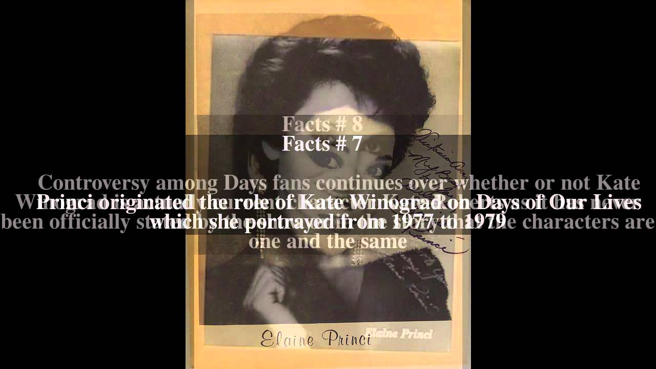 Watch Elaine Princi video