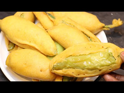 Street Style Mirchi Bajji | బండిమీద అమ్మే మిరపకాయ బజ్జిలు అదే రుచితో ఈటిప్స్   తోఇంట్లోనే వేసుకోండి
