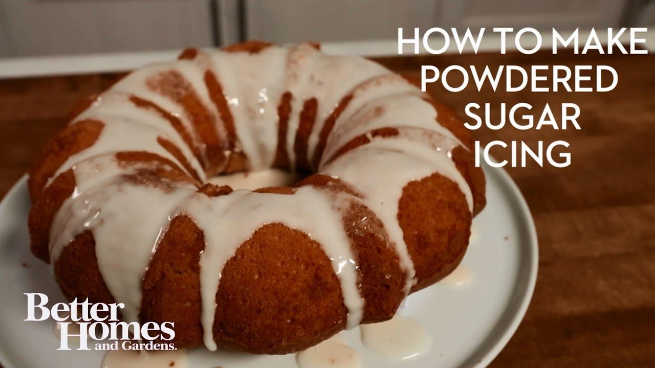 Pound Cake Glaze Powdered Sugar