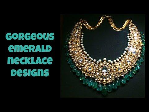 Gorgeous Emerald Necklace Designs