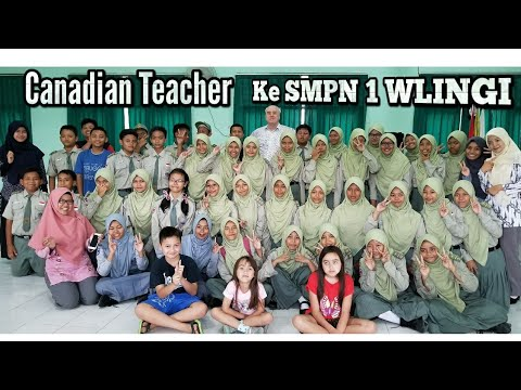 Canadian Teacher Berkunjung ke SMPN 1 Wlingi ,Jawa Timur-Indonesia .