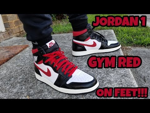 EARLY REVIEW!!! JORDAN 1 GYM RED ON FEET!!!