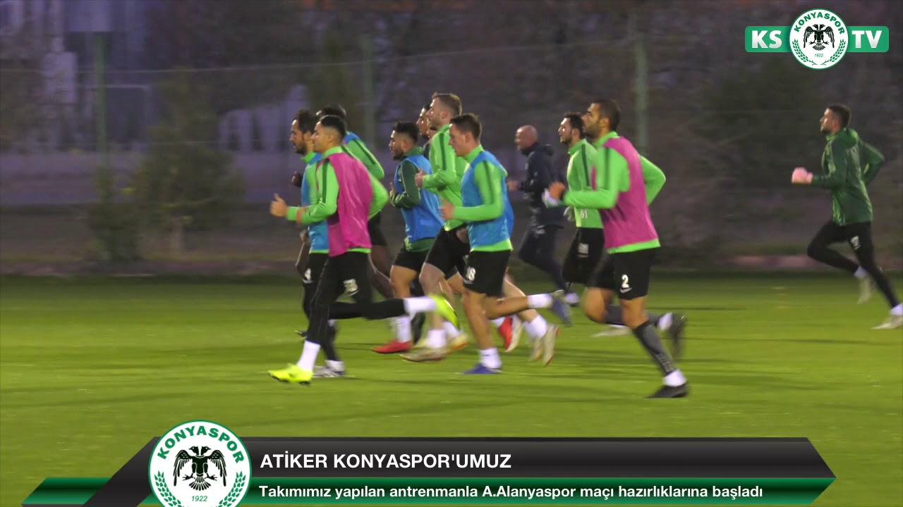 Atiker Konyaspor'umuzda A.Alanyaspor maçı hazırlıkları başladı ...