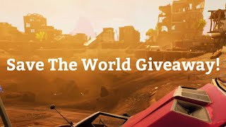 Live fortnite | save the world giveaway | streaming till i hit 1k | join up!