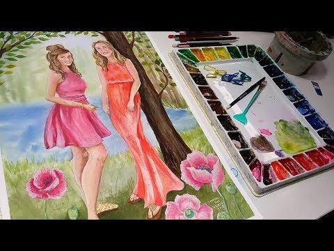 Portrait of my Daughters // Sketchbook Sunday