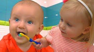 Cepillarse Los Dientes | Canción Infantil | Canciones Infantiles con Katya y Dima