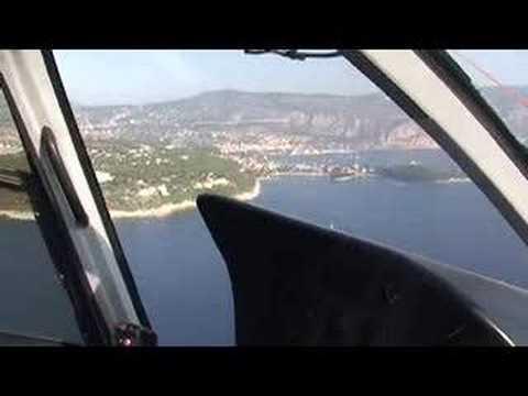 Helicopter flight to Monaco