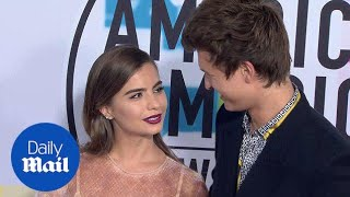 The look of love! Ansel Elgort & Violetta Komyshan at 2017 AMAs - Daily Mail