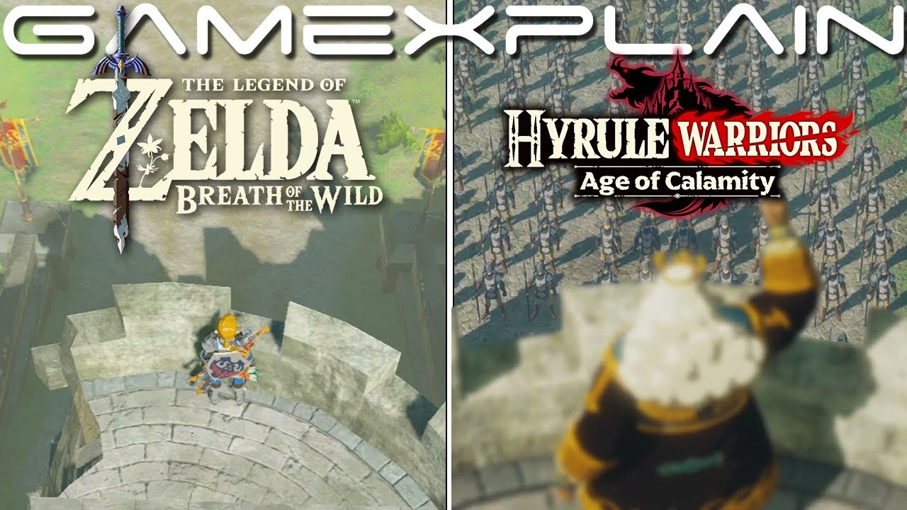 Breath Of The Wild Vs Hyrule Warriors Age Of Calamity How Similar Are They Comparison Youtube